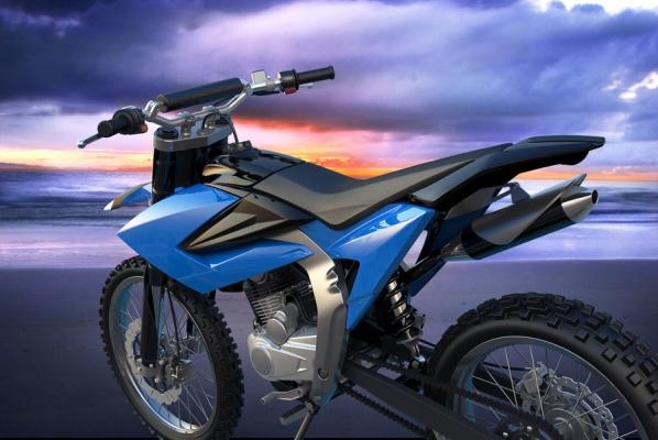 motorcycle rendering