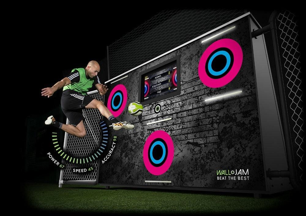 the Walljam ball game training Aid